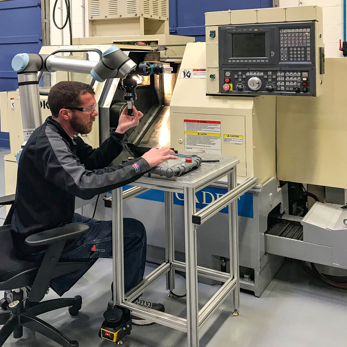 Integrating a Cobot with a CNC machine
